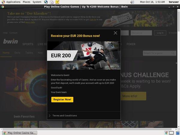 Bwin Casino Free Spin Bonus