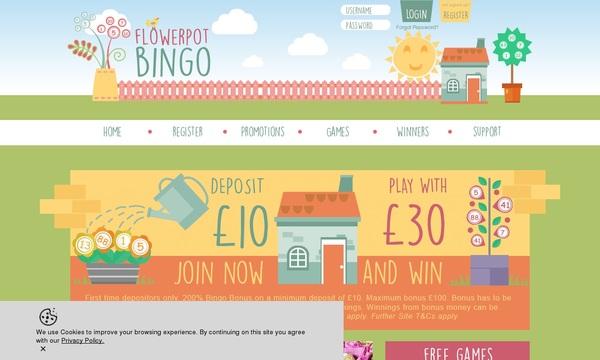 Flower Pot Bingo Free Poker