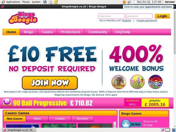 Bingo Boogie Welcome Offer