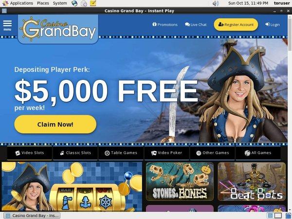 Casinograndbay Games Bonus
