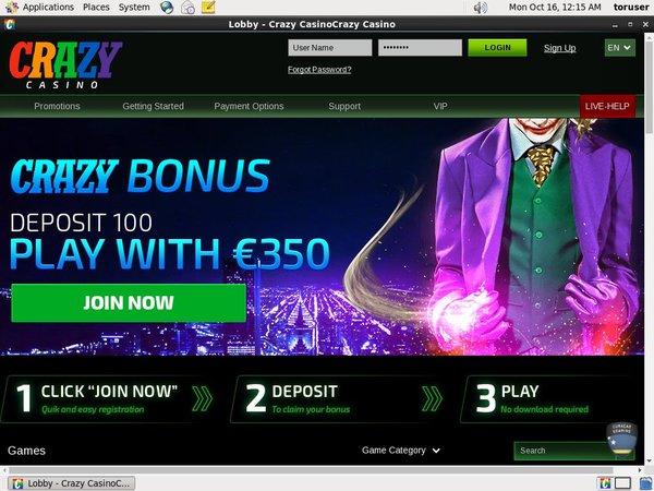 Crazy Casino Euros No Deposit