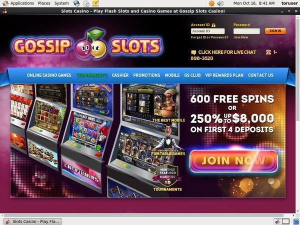 Gossip Slots Bonus Deal