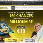 Welcome Grand Mondial Bonus