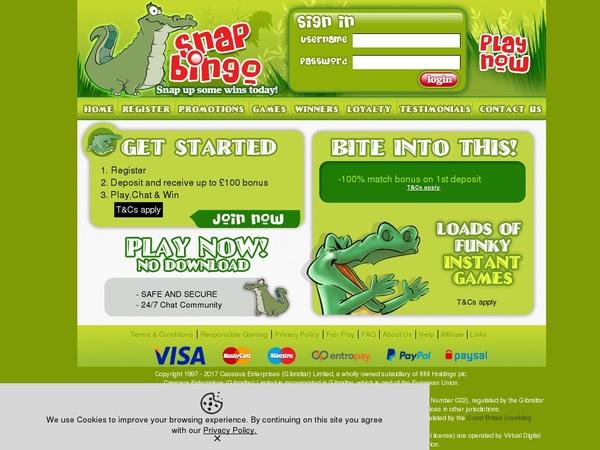 Snap Bingo Spil Bonus
