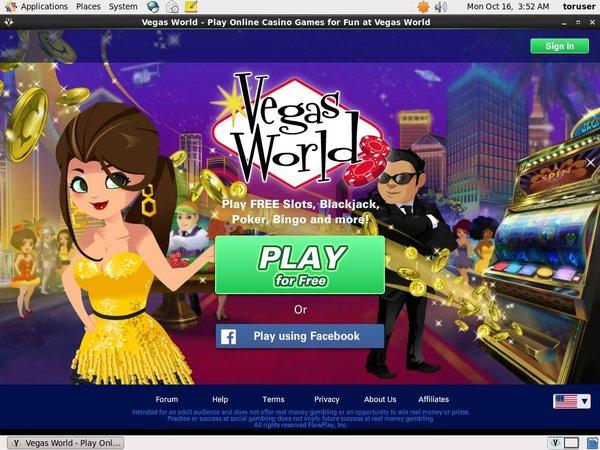 Vegas World Live Casino Uk
