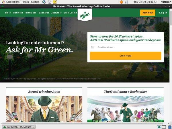Register For Mr Green