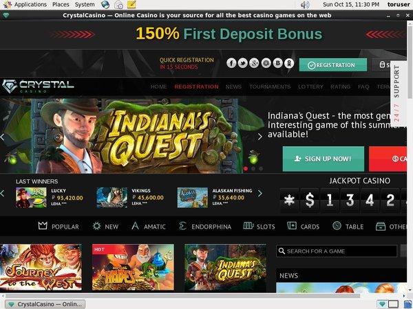 No Deposit Crystal Casino Bonus
