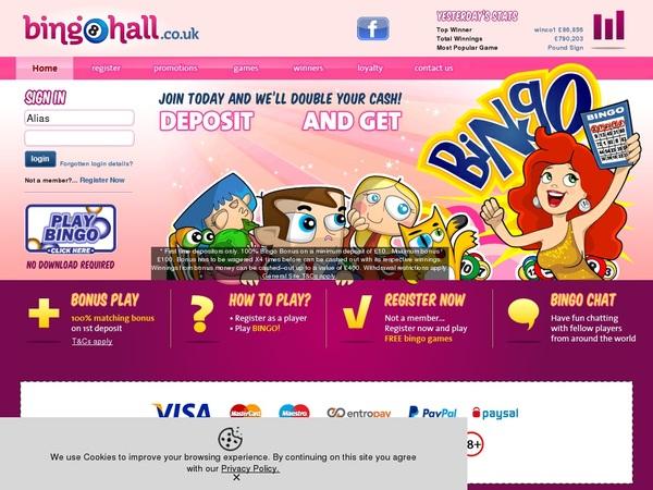 Bingo Hall カジノボーナス