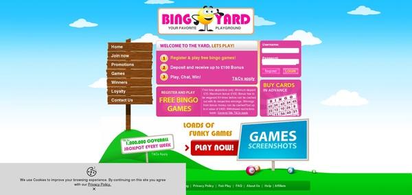 Bingo Yard Sign Up Promo