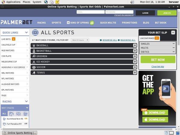 PalmerBet Sports Bank Transfer