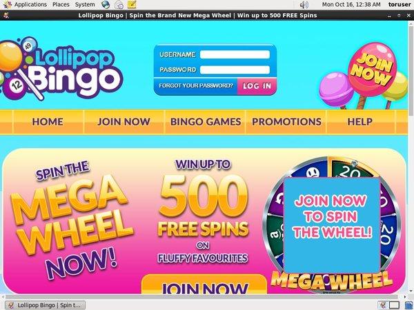 Lollipop Bingo New Betting Slip