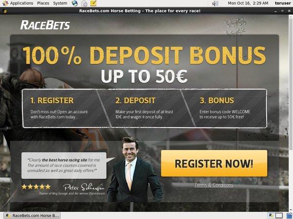 Free Bets Racebets