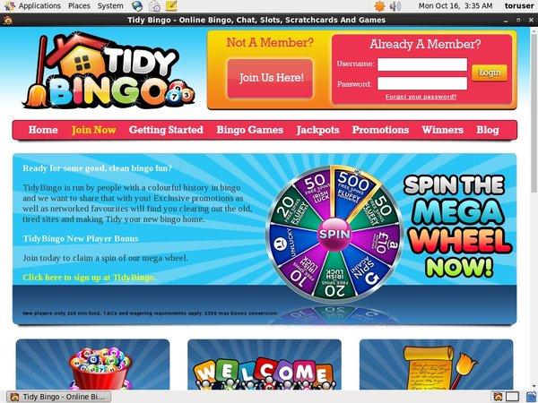 Бонус Tidy Bingo