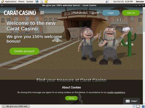 Carat Casino Promo