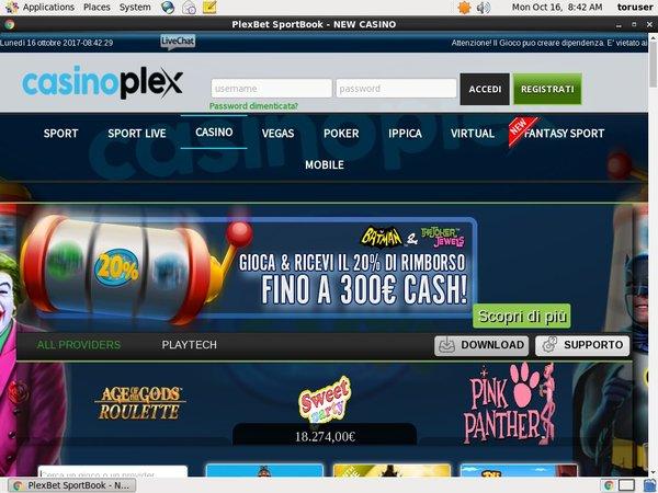 Casion Plex .it No Deposit Required