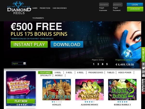 Diamond Reels Casino Betting