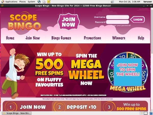 Scopebingo Free Bet Bonus