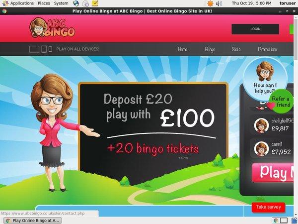 ABC Bingo Mobile Login